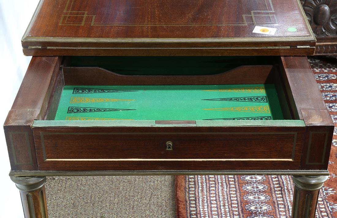 Regency style mahogany roulette and backgammon games - 5