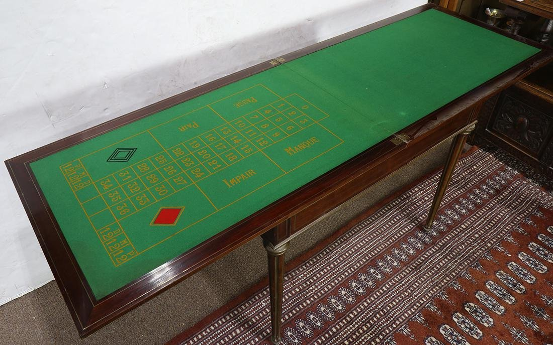 Regency style mahogany roulette and backgammon games - 6