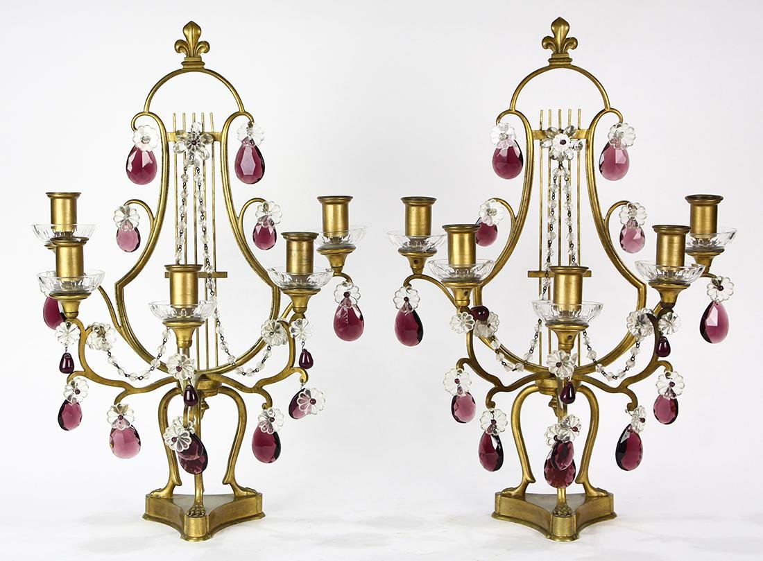 Pair of Louis XV style candelabras