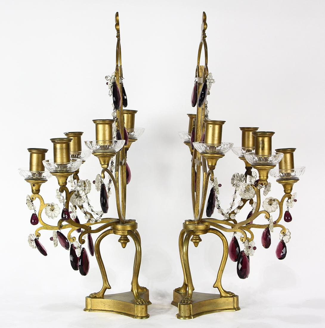 Pair of Louis XV style candelabras - 2