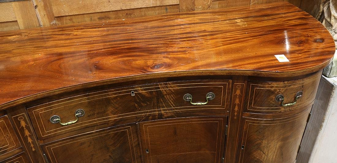 Federal mahogany sideboard, having a serpentine top, - 3