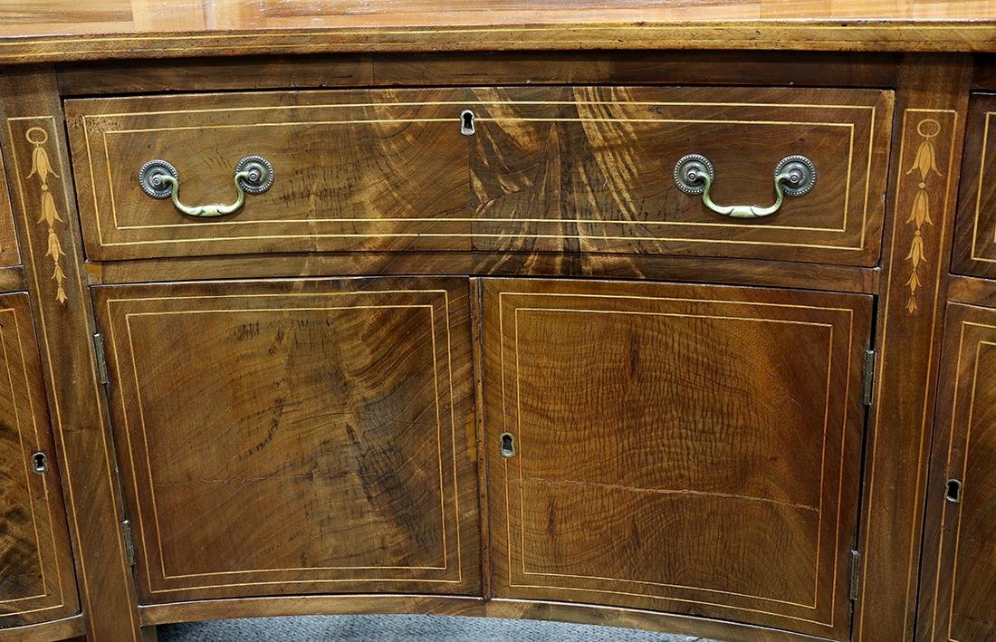 Federal mahogany sideboard, having a serpentine top, - 4