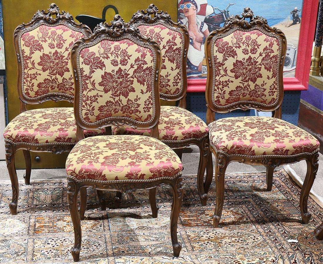 (lot of 8) Rococo style dining chairs circa 1860
