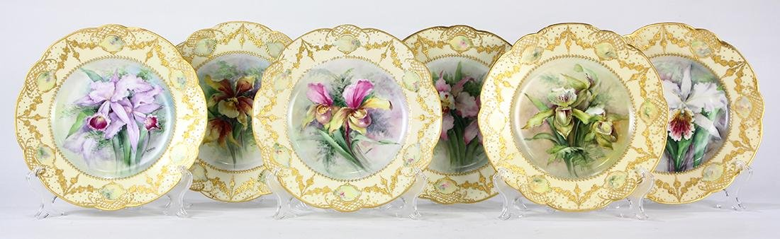 (lot of 6) Haviland Limoges polychrome decorated - 2
