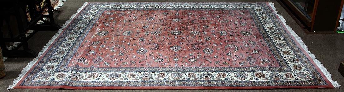 "Indo Tabriz carpet, 11'1"" x 9'"