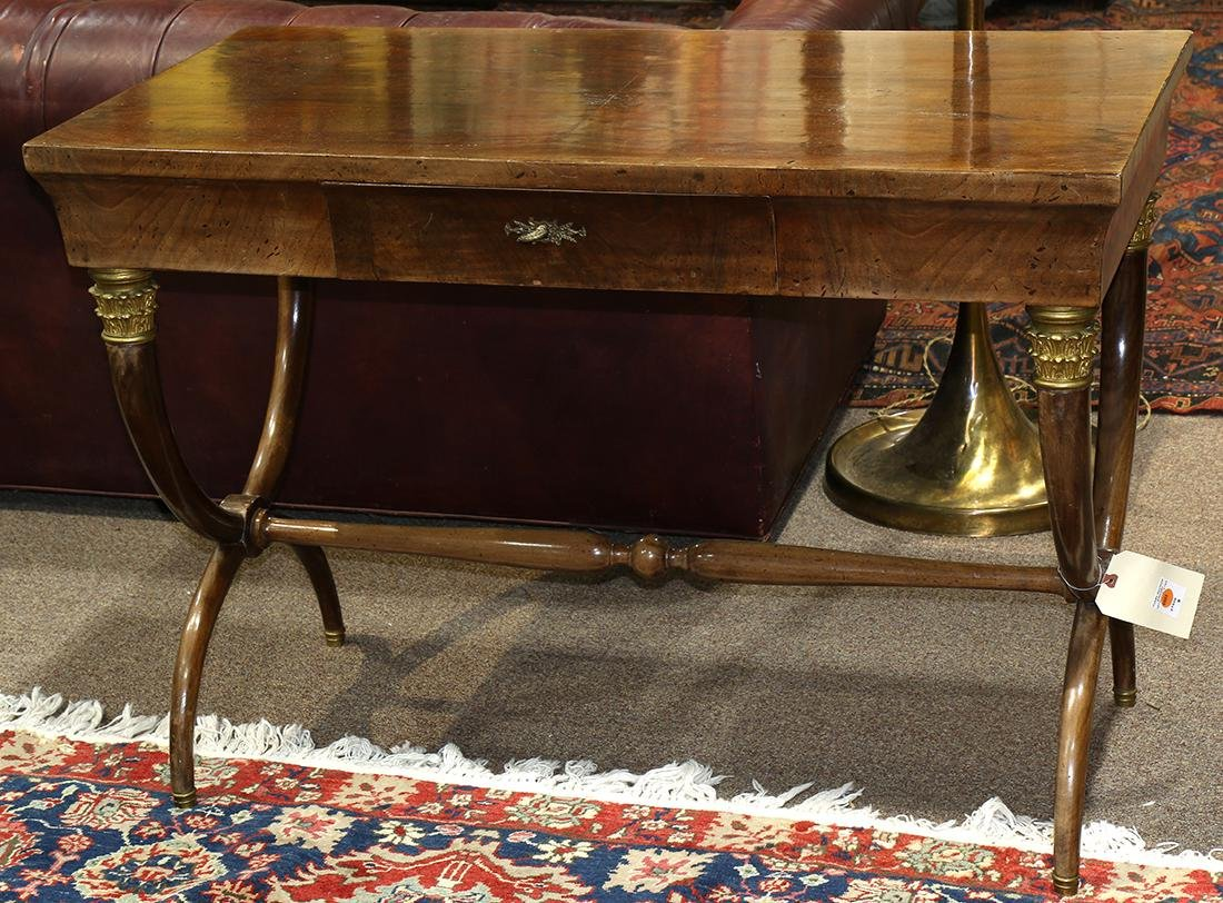 French Empire style mahogany library table