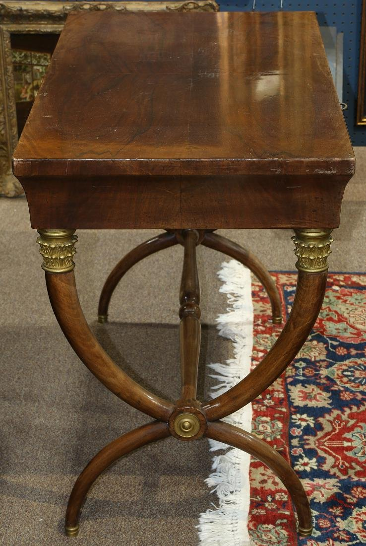 French Empire style mahogany library table - 3