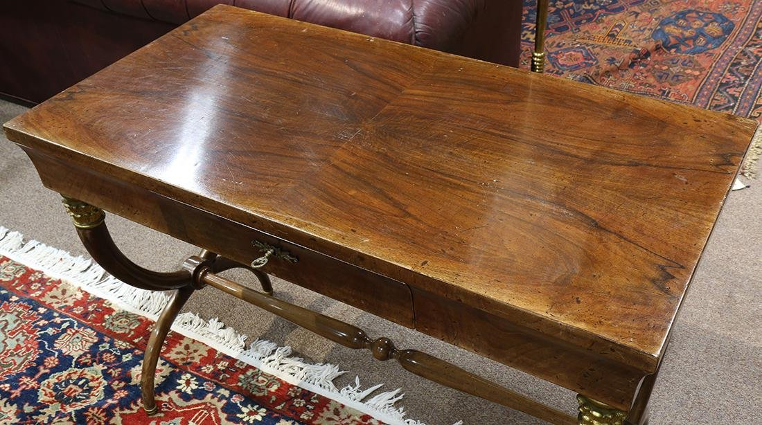 French Empire style mahogany library table - 5