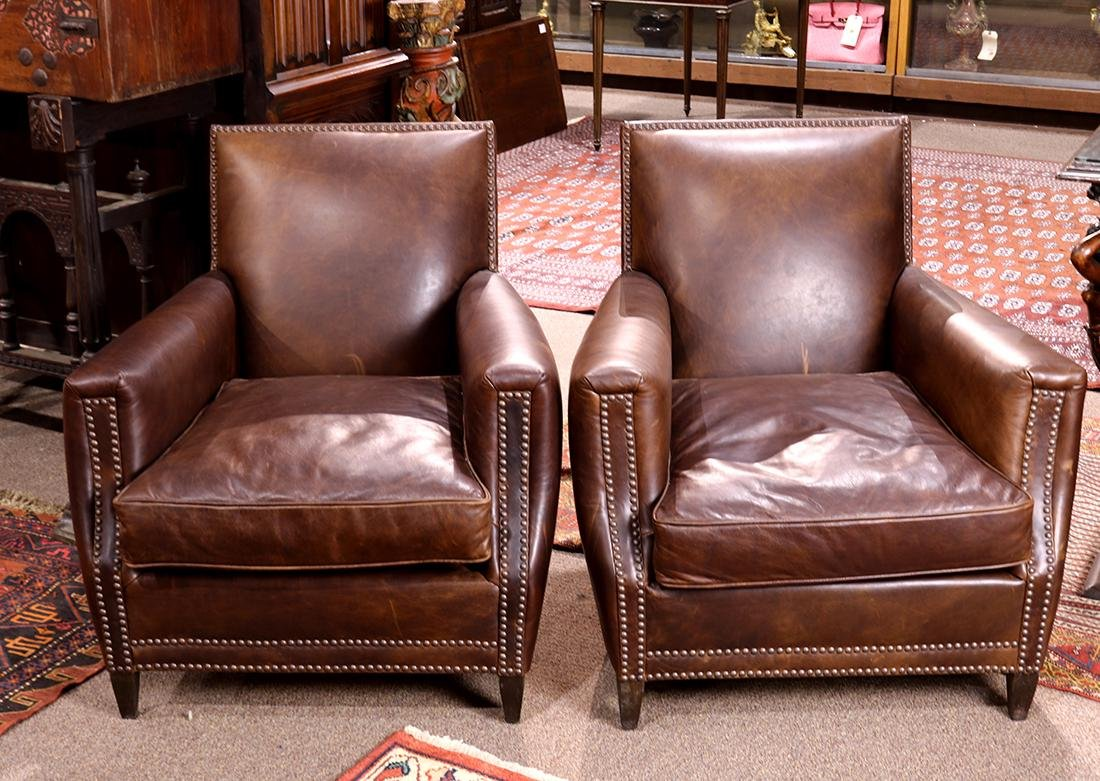 "Pair of Art Deco style Restoration Hardware ""Marcel"""