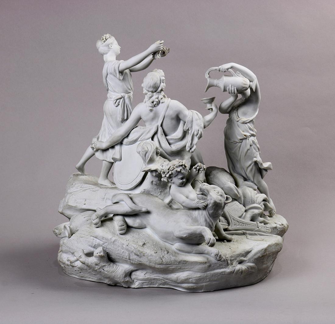 Continental parian ware figural sculpture, depicting - 3