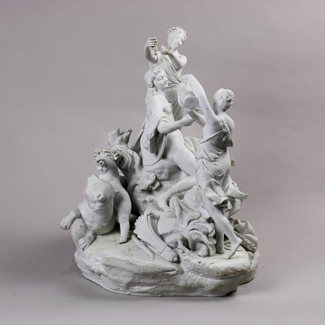 Continental parian ware figural sculpture, depicting - 4