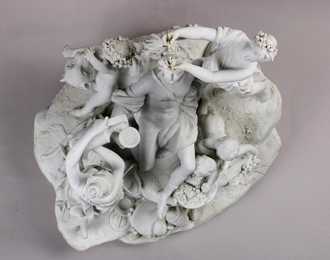 Continental parian ware figural sculpture, depicting - 5