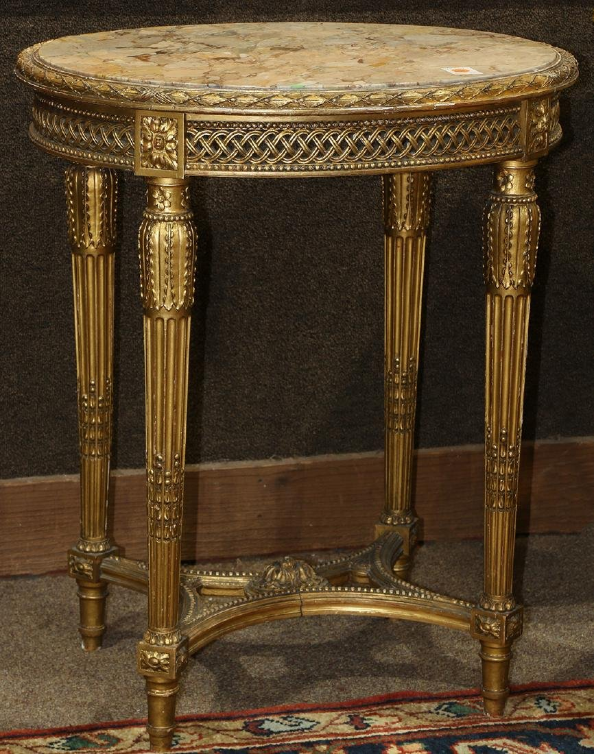 Louis XVI style gilt occasional table circa 1870,