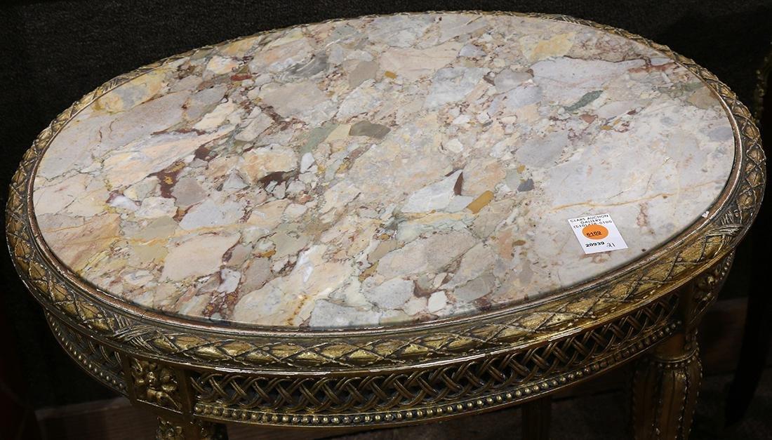 Louis XVI style gilt occasional table circa 1870, - 2