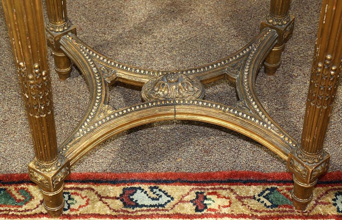 Louis XVI style gilt occasional table circa 1870, - 3