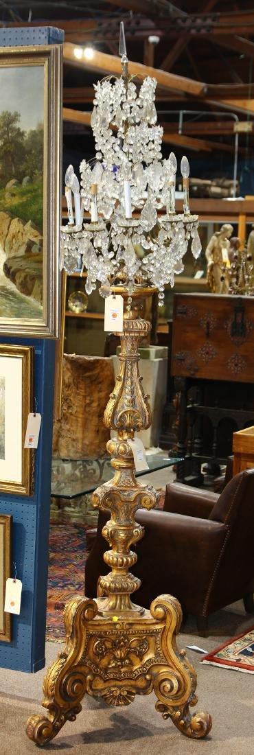 Monumental crystal and gilt candelabra - 3