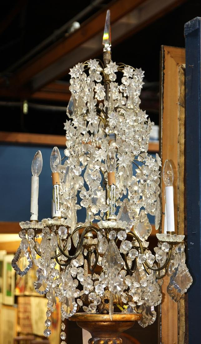 Monumental crystal and gilt candelabra - 4