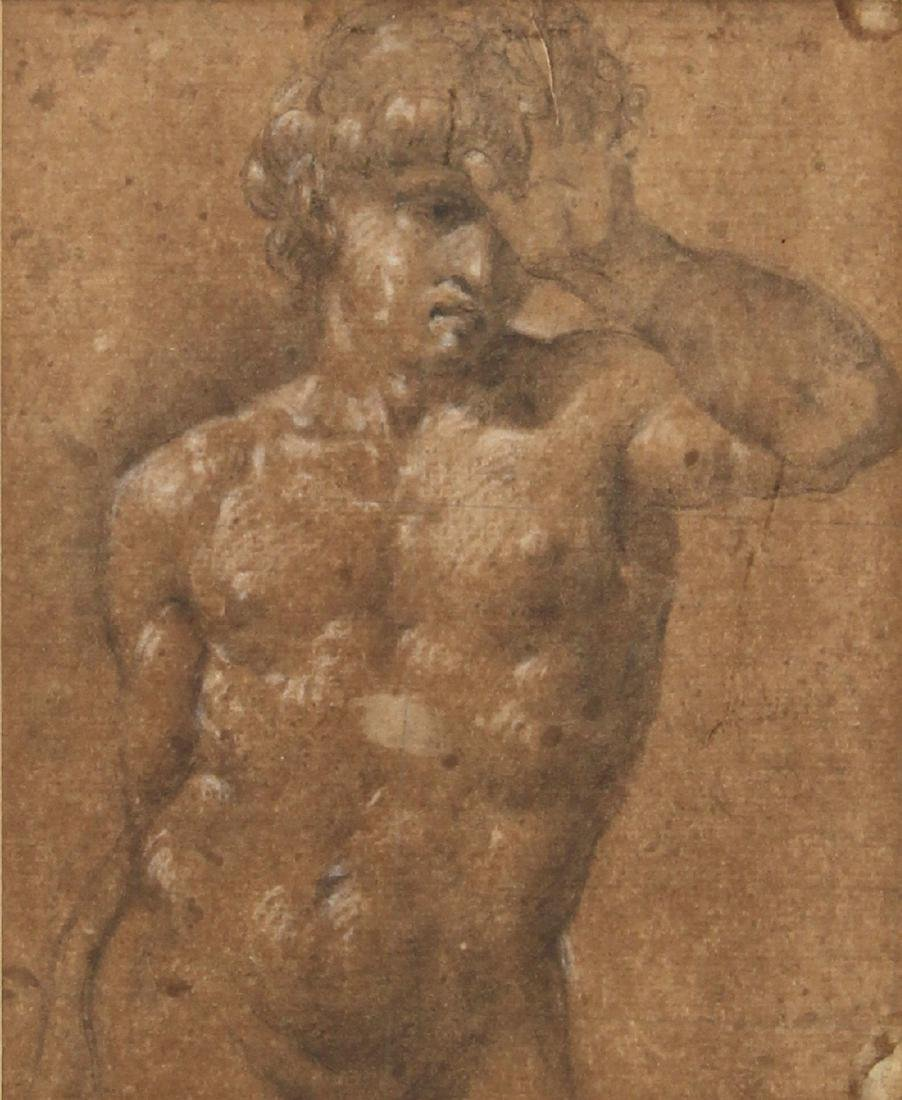 Work on paper, Male Nude/Madonna and Child