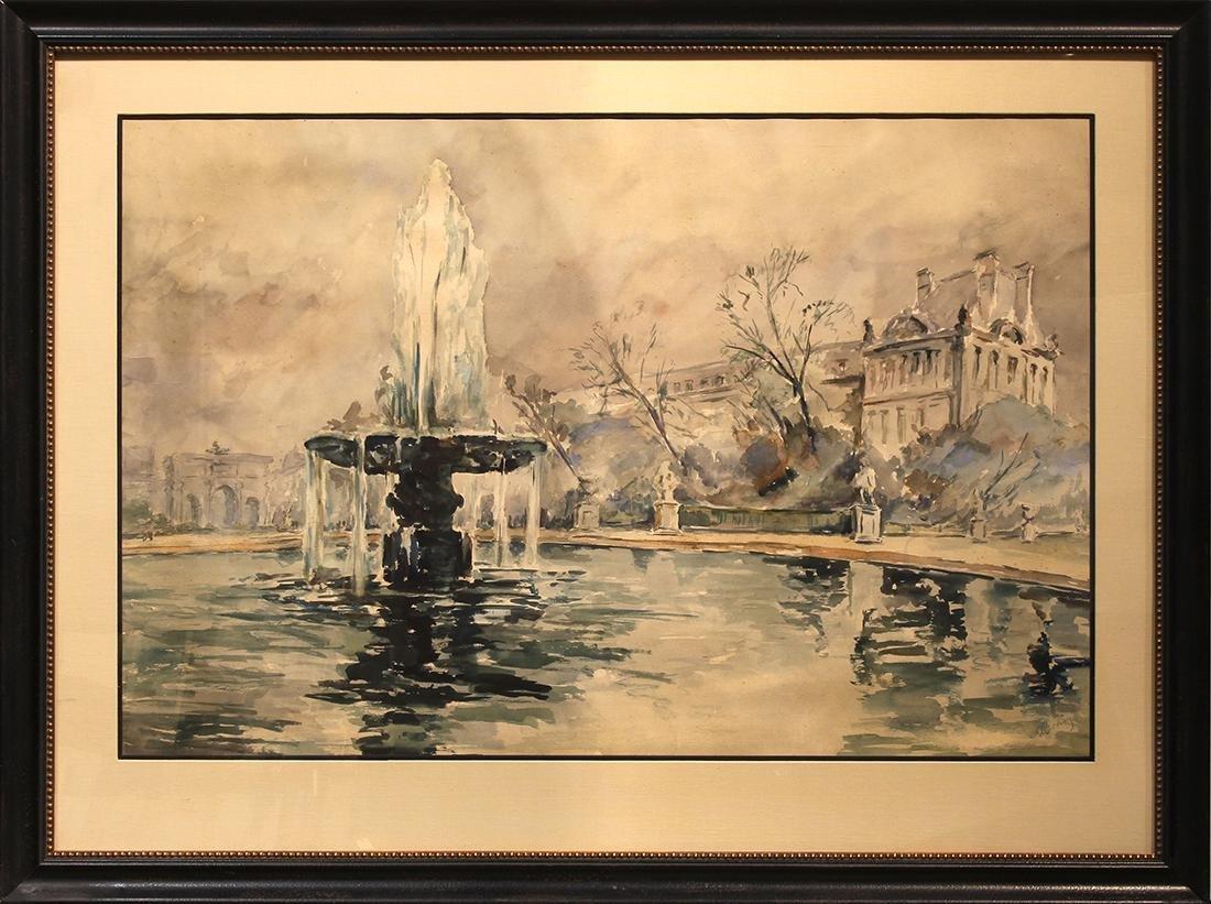 Watercolor, Alexander Benois - 2