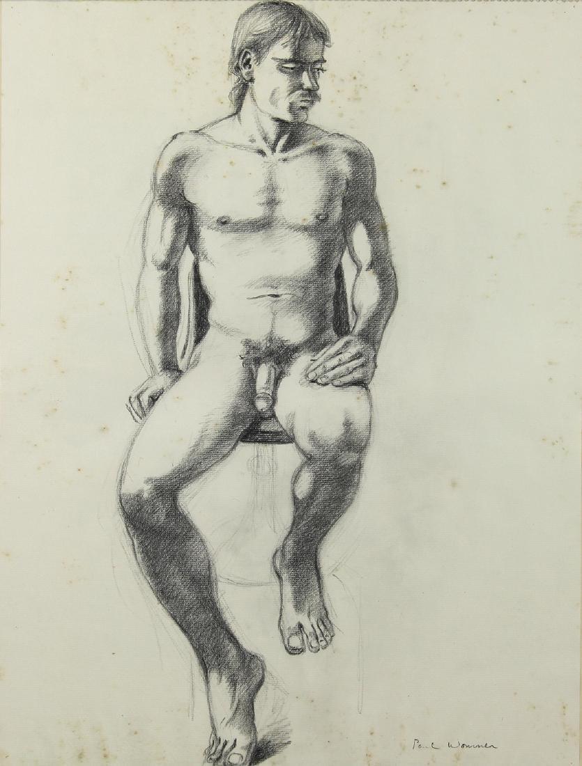 Drawing, Paul Wonner