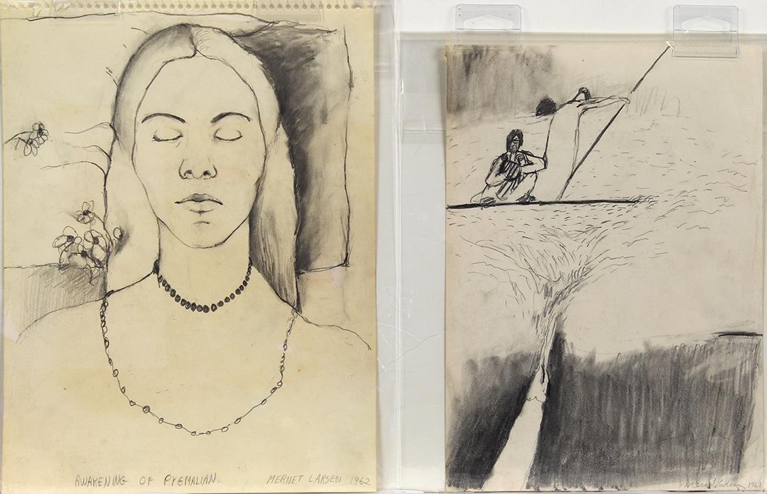 Drawings, Mernet Larsen