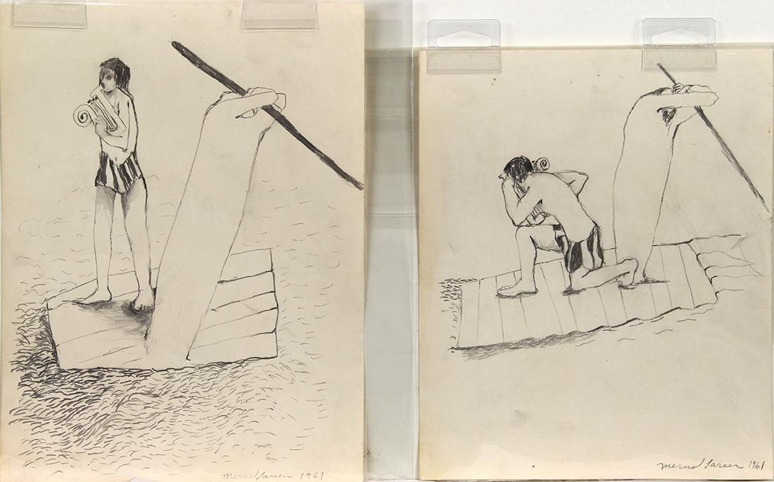Drawings, Mernet Larsen - 2