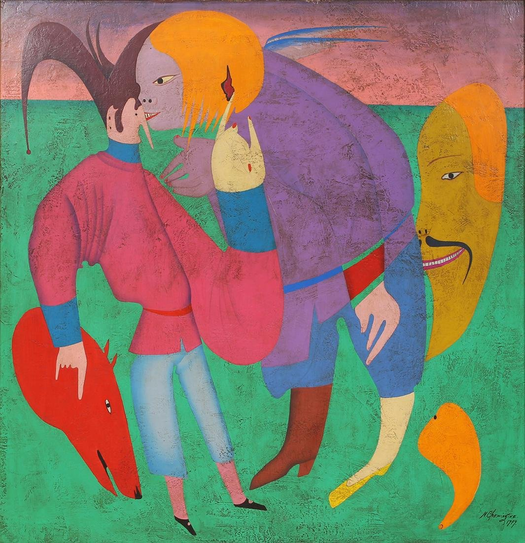 Painting, Mihail Chemiakin