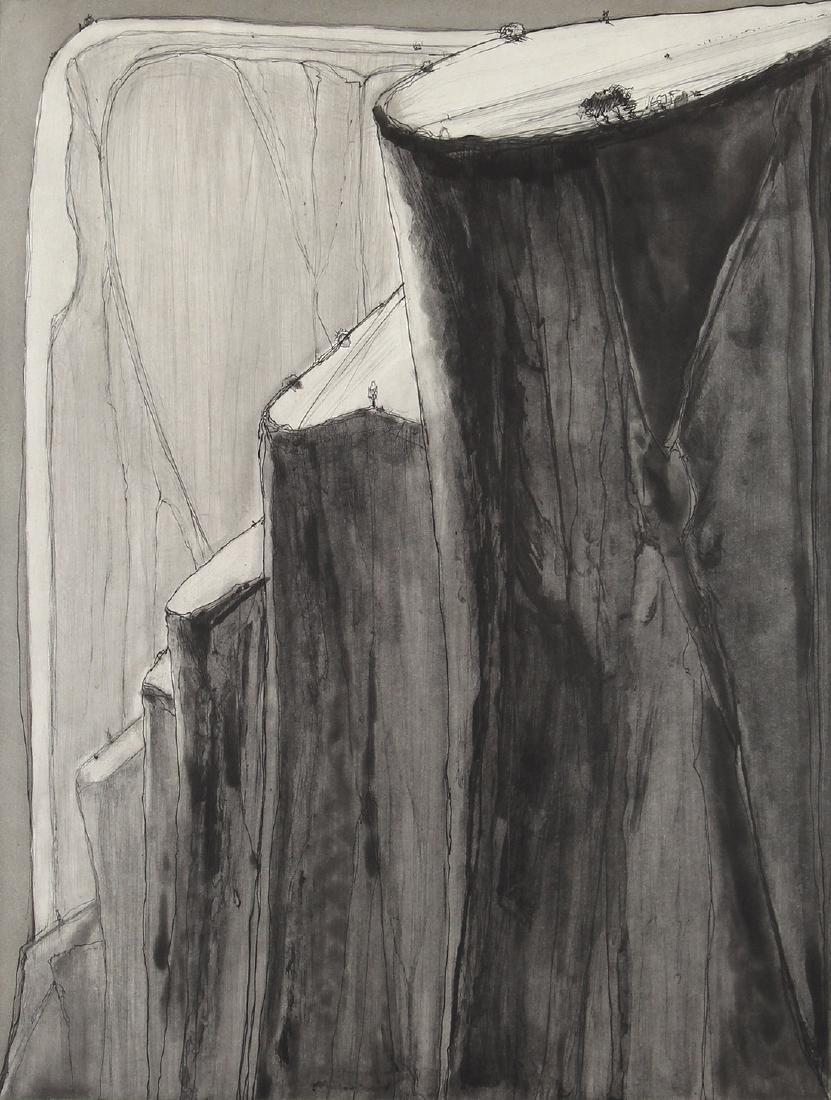 Print, Wayne Thiebaud, Dark Canyon Bluffs
