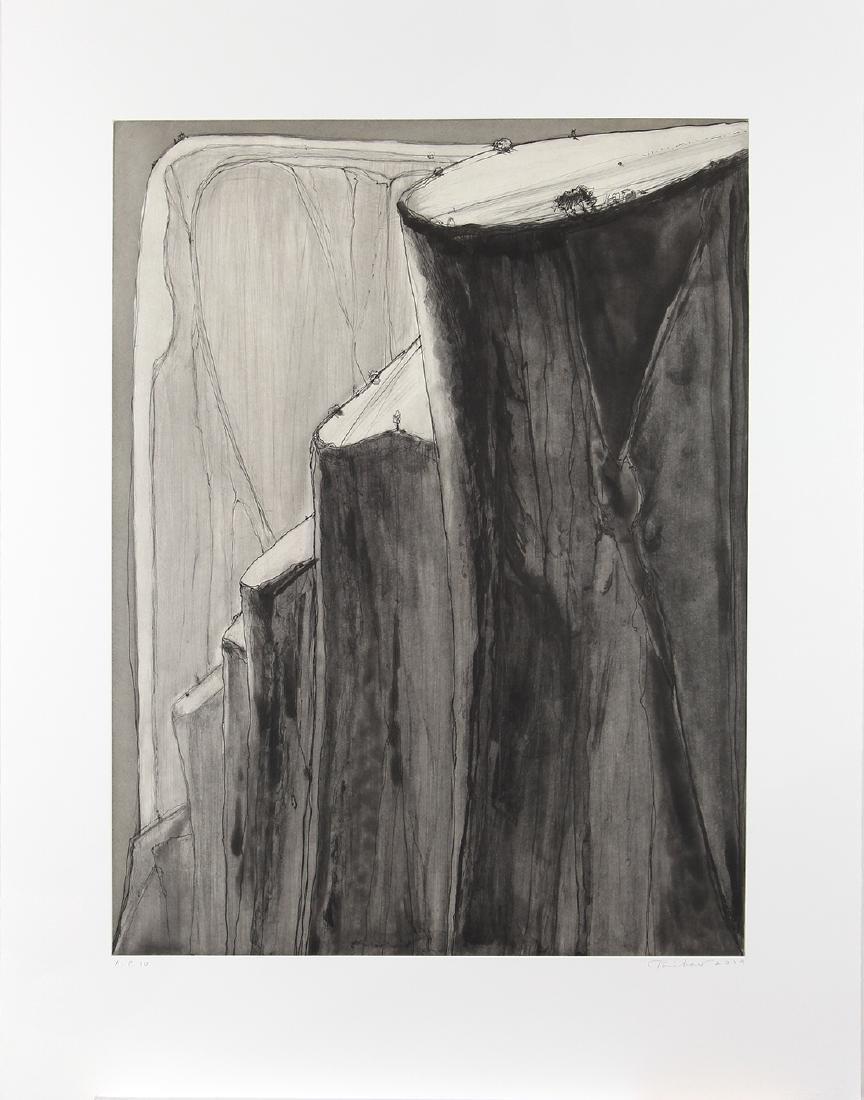Print, Wayne Thiebaud, Dark Canyon Bluffs - 2