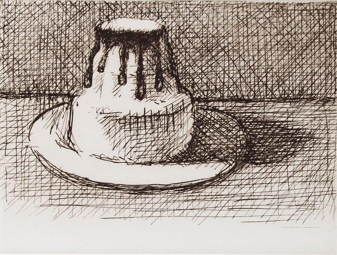 Print, Wayne Thiebaud, White Chocolate