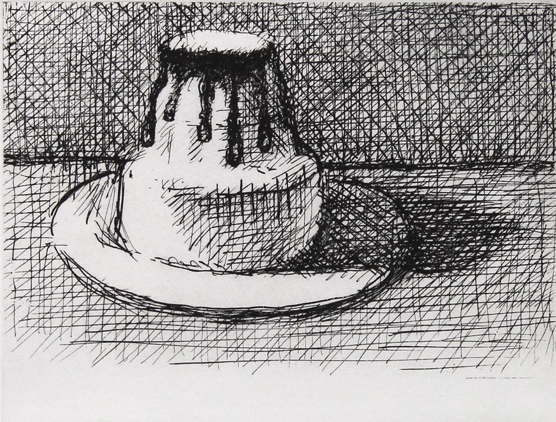 Print, Wayne Thiebaud, Dark Chocolate