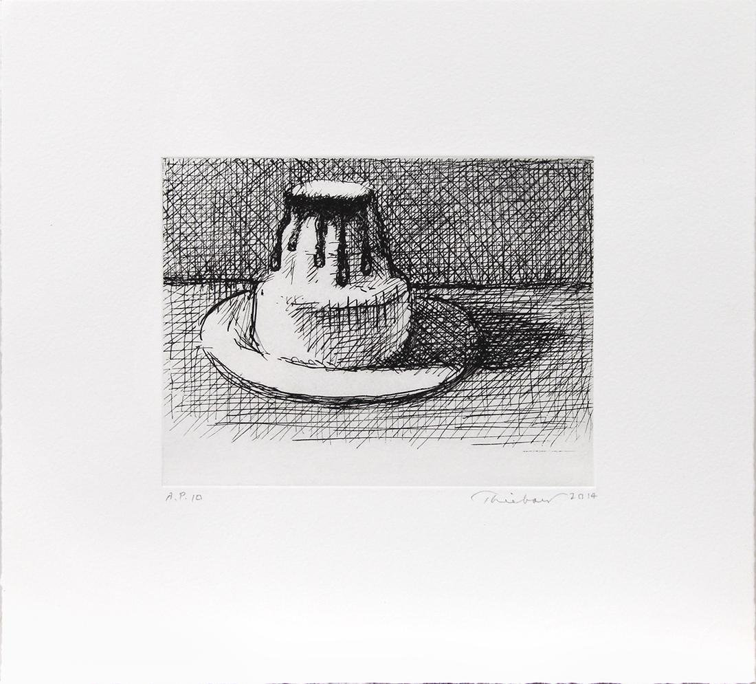 Print, Wayne Thiebaud, Dark Chocolate - 2
