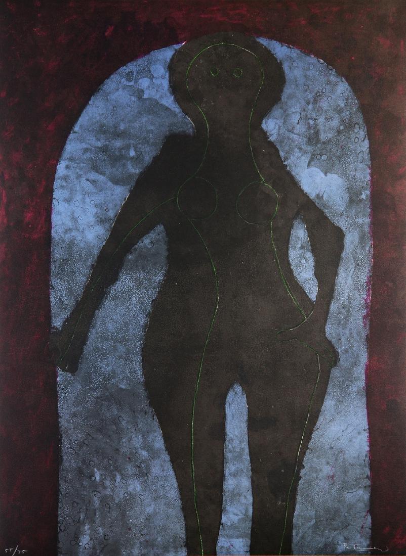 Print, Rufino Tamayo, Mujer en Negro