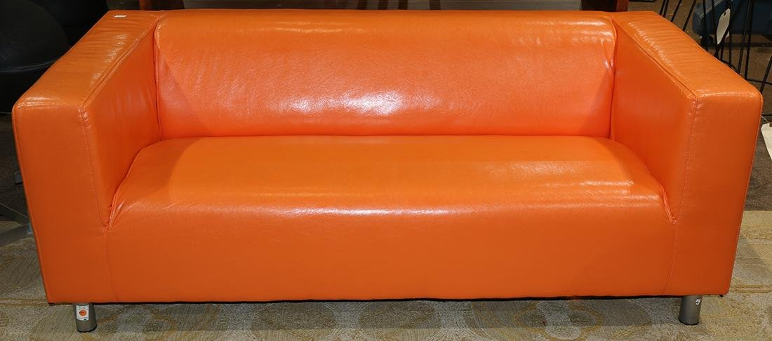 Swedish orange loveseat sofa