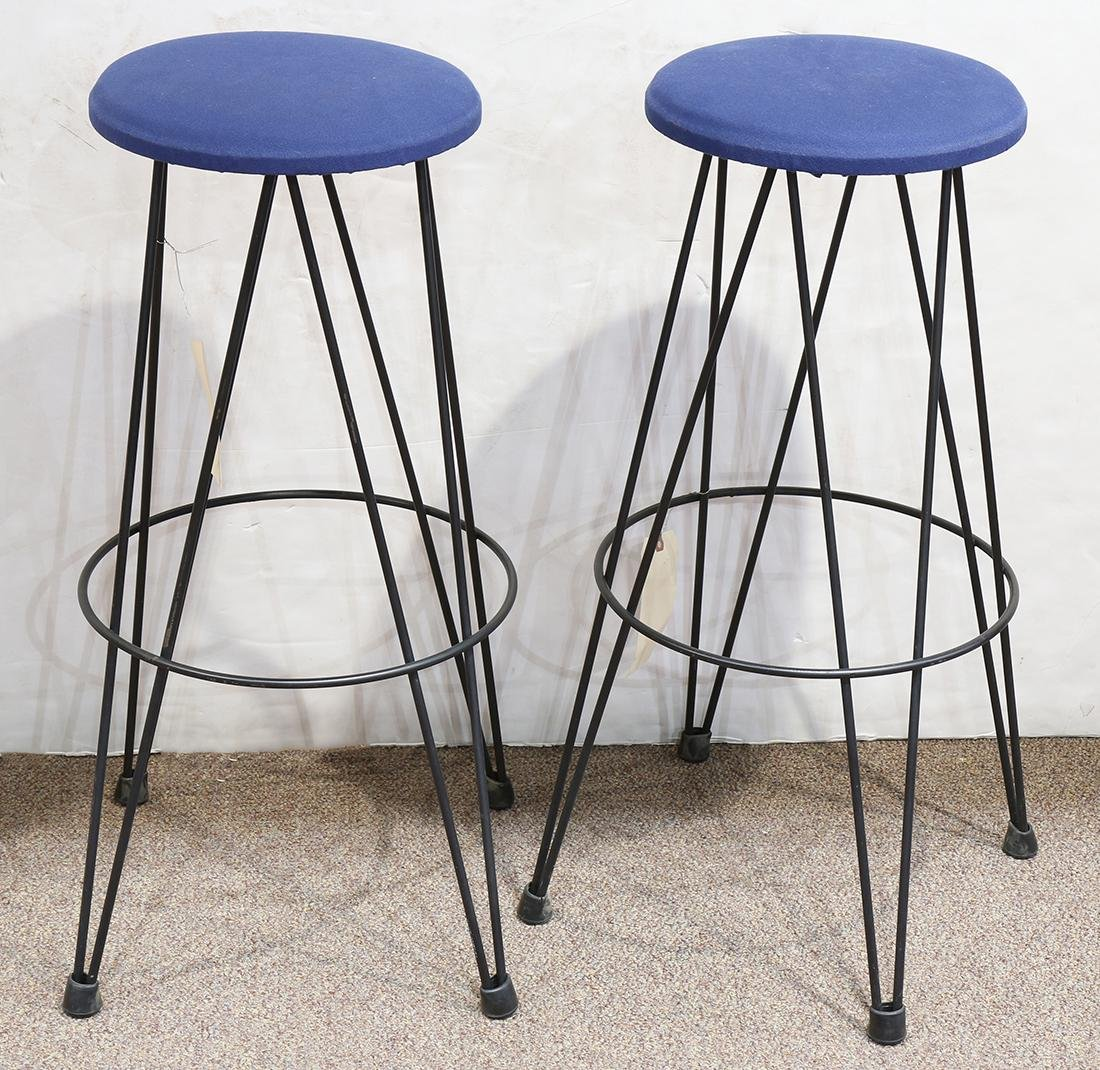 (lot of 2) Modernist bar stools
