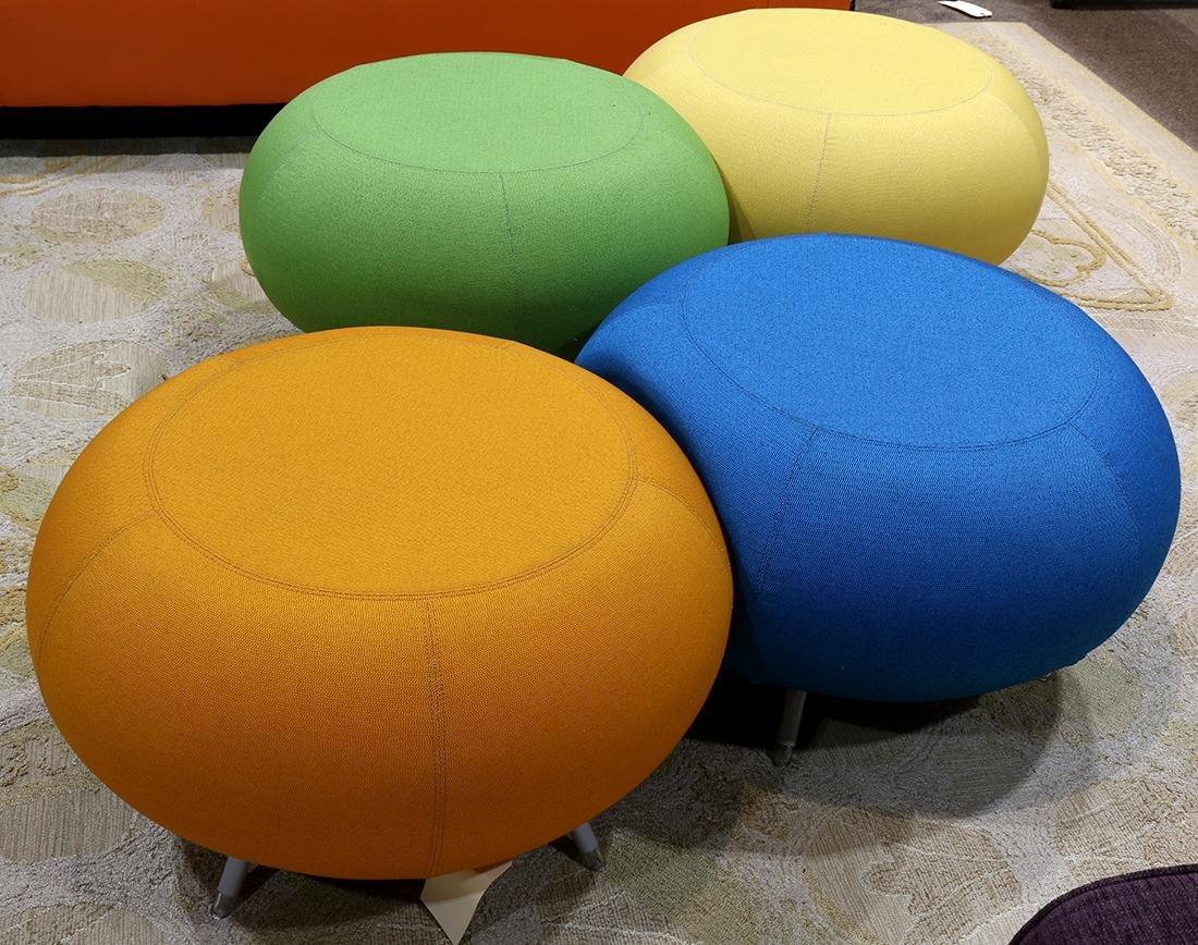 (lot of 5) Modern Allermuir Pebble stool group