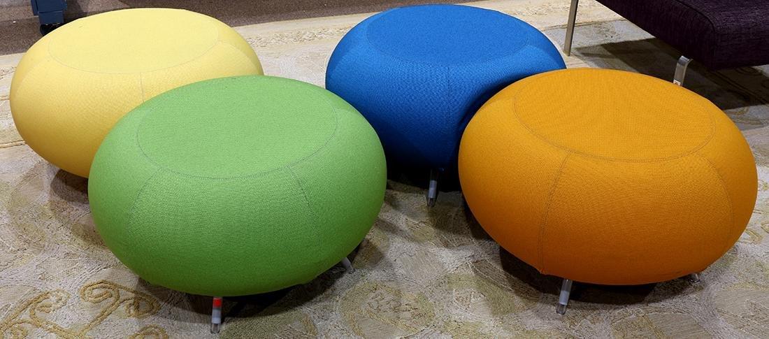 (lot of 5) Modern Allermuir Pebble stool group - 2