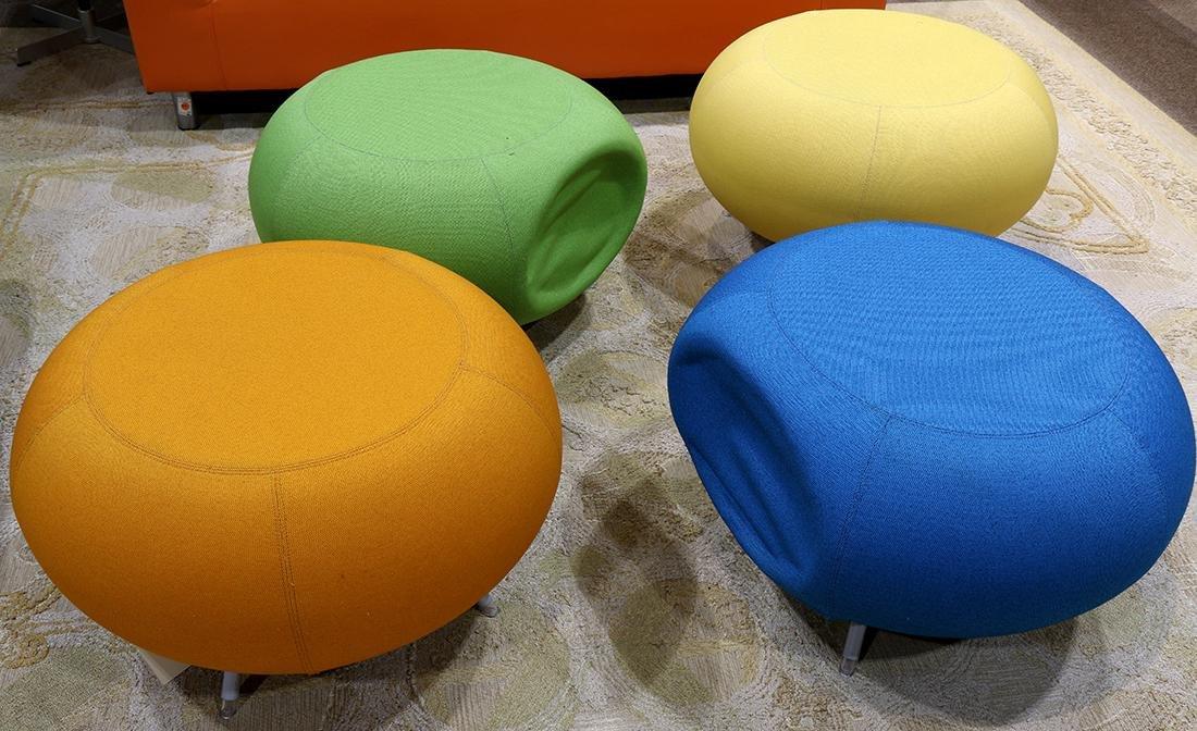 (lot of 5) Modern Allermuir Pebble stool group - 3