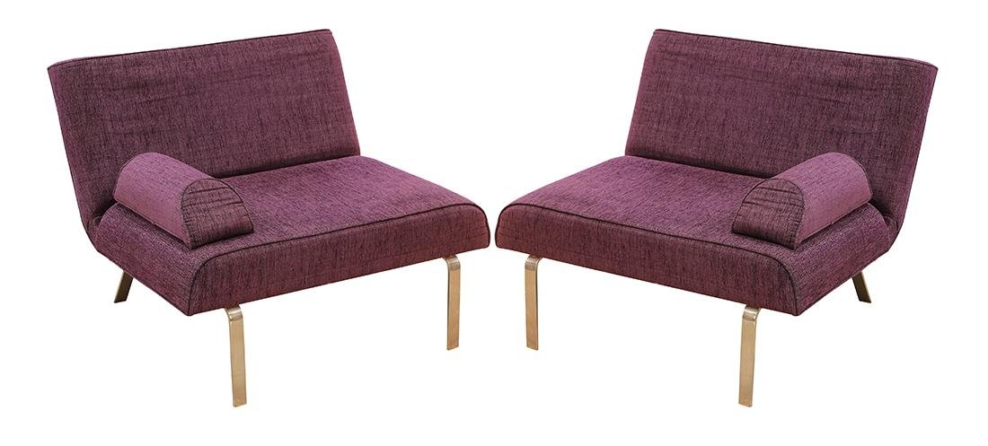(lot of 2) Italian Moderne style lounge chairs