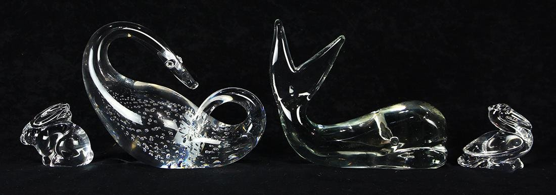 (Lot of 4) Crystal figural group - 2