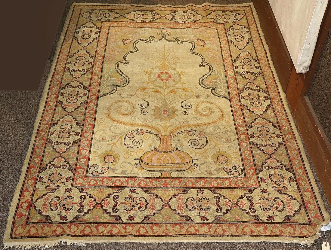 "Antique Turkish Tree of Life prayer rug, 6'3"" x 4'2"""