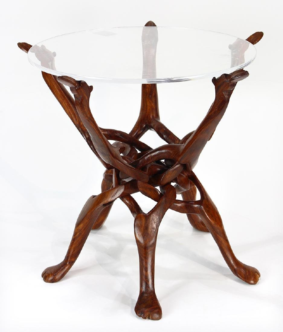 Mid Century carved occasional table