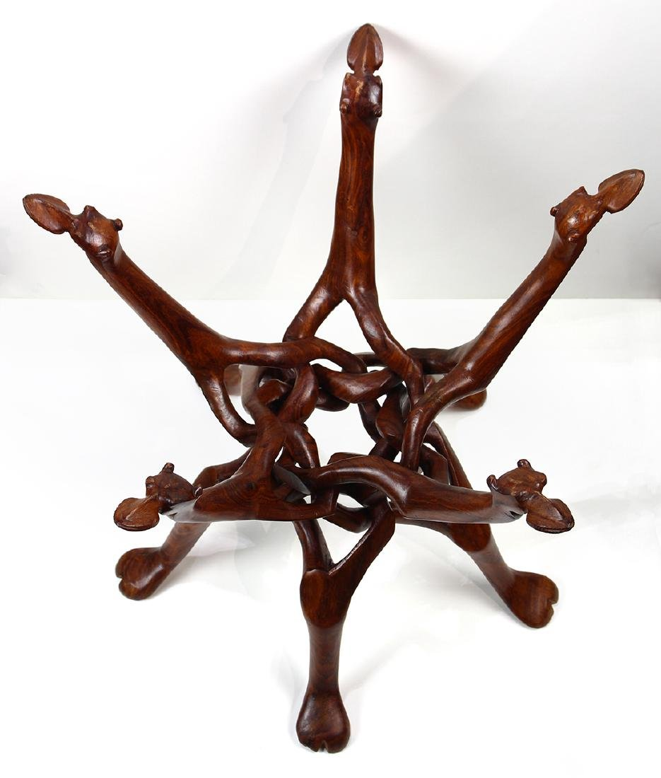 Mid Century carved occasional table - 2
