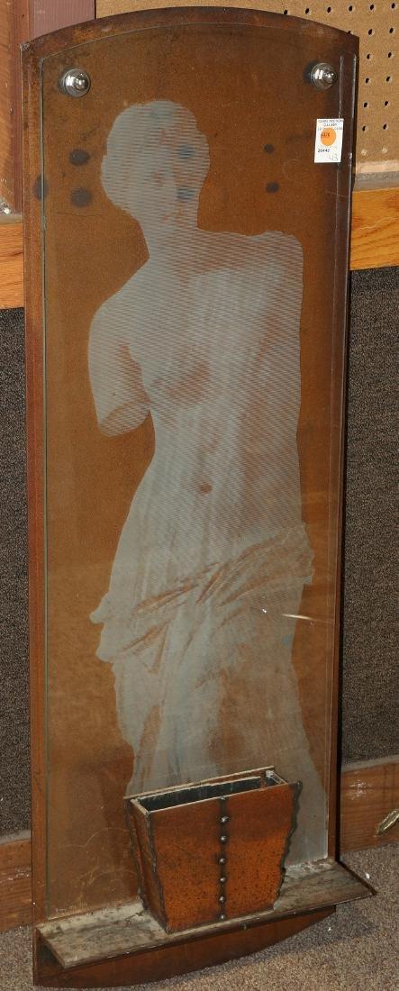 """Nancy Mee """"Reconstruction"""" art glass wall sculpture"""
