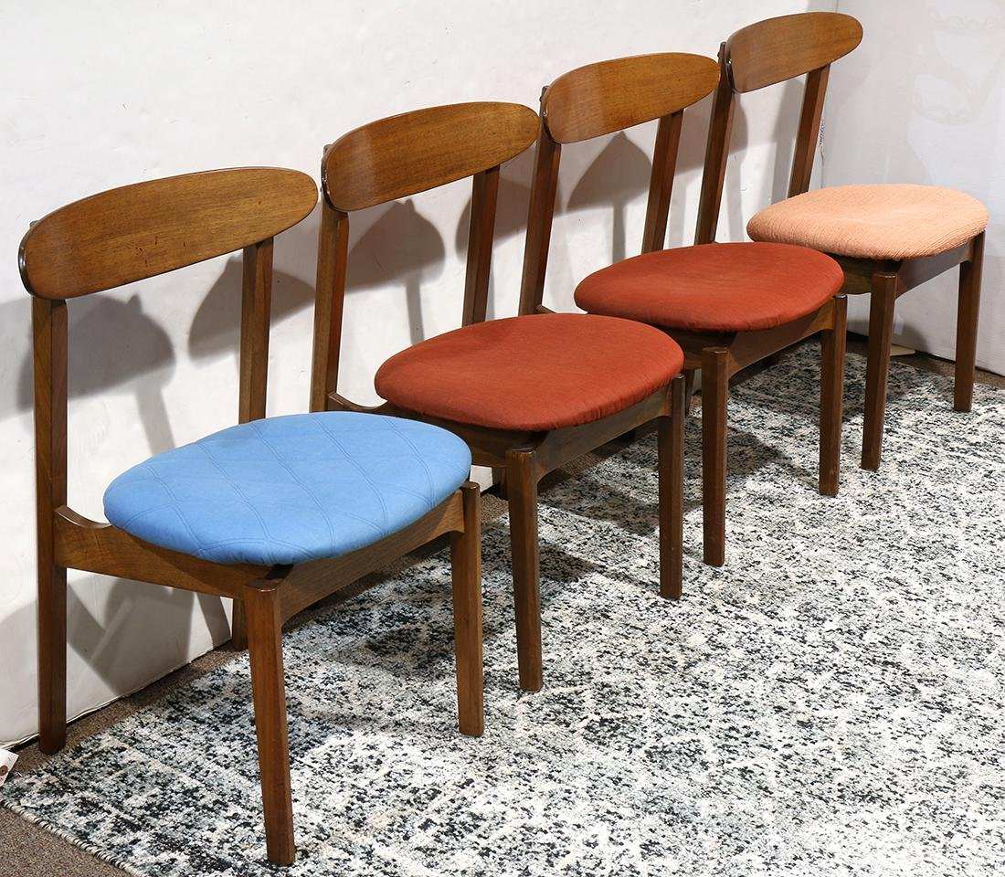 (lot of 4) Mid-Century Barzilay teak side chairs