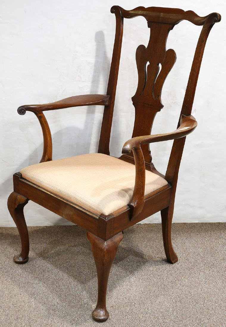 Chippendale walnut armchair