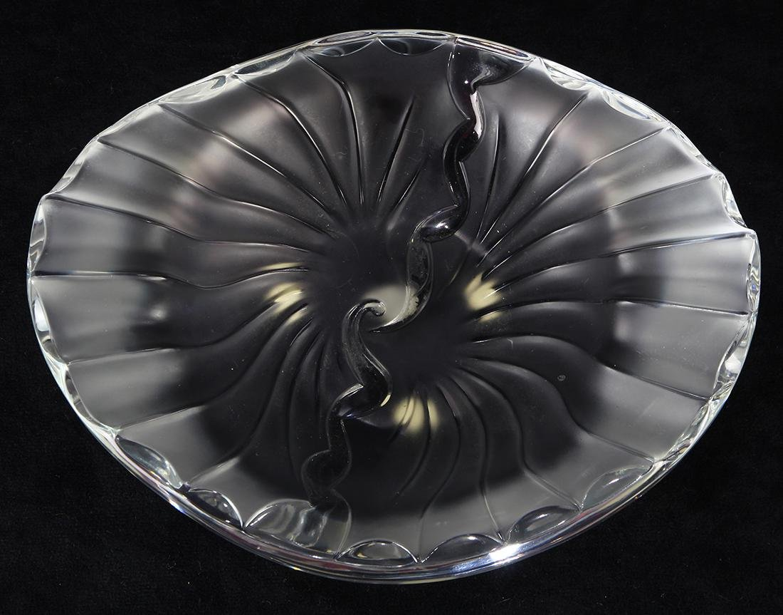 Lalique frosted and clear glass candy dish