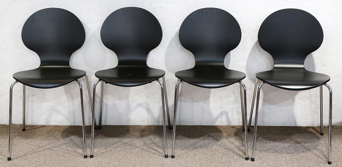 (lot of 4) Moderne side chairs