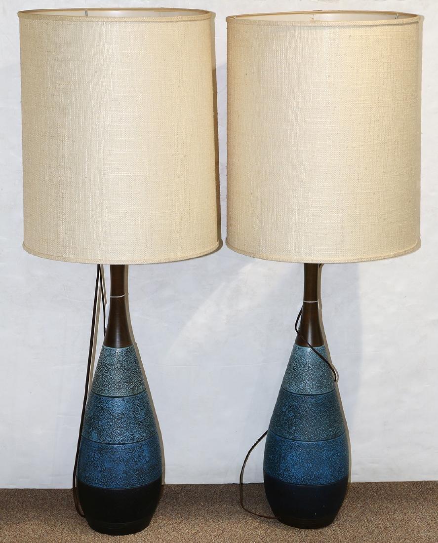Pair of Danish Mid-Century Modern table lamps