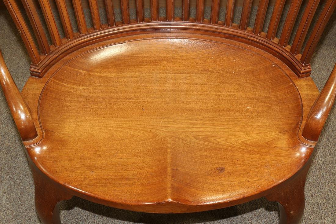 Mid Century walnut barrel chair - 3